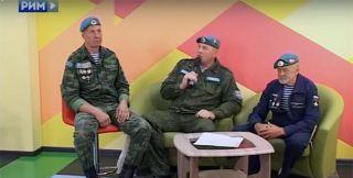 Десантники побывали в гостях у телепрограммы УтРим